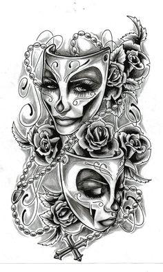 Face tattoos, body art tattoos, cool tattoos, chicano tattoos sleeve, t Skull Tattoos, Body Art Tattoos, Cool Tattoos, Clown Tattoo, Tatoos, Peace Tattoos, Woman Tattoos, Tattoos Pics, Key Tattoos