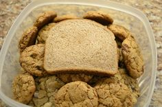 Tip to keep cookies moist and chewy for days : Add a slice of bread in your tubberware!     Once the bread is dry, toss it out and replace with a new slice :)