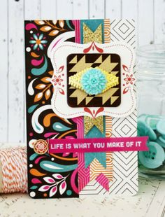 Life is what You Make of It - Scrapbook.com - Gorgeous rich colors in the BasicGrey's Grand Bazaar collection to use in handmade cards.
