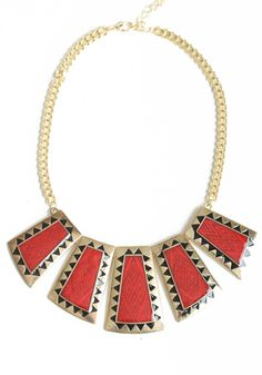 rufous tribal necklace