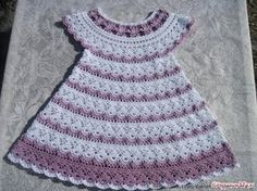 Crochet Patterns| for free |Crochet Baby dress| 569 CLICK here to get many Patterns of Crochet Shawls http://www.youtube.com/watch?v=MmTEqL9uH9M&list=PLUAu1C...