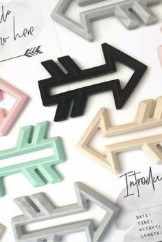 ARROW SILICONE TEETHER -Our Arrow Silicone Teethers are here! For the most contemporary, on-trend and practical teether on the market, you can't go past these. #teethers #babayboutique #teething #parenting