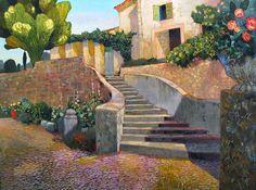 The Staircase Near La Romieu, France by Paul Jorgensen