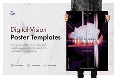Digital Vision #Music #Printable #Poster Template + #Freebies - 3 #abstract, charming and yet so remarkable poster templates, perfectly fitting any #art, #music or #cinematographic #celebration as well as any project you dream and breath to promote in a best-sophisticated manner. #unlimitedownloads #creative #abstractart