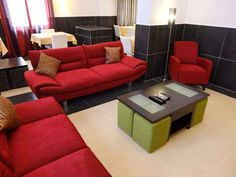 Featuring a total of 25 well appointed hotel rooms, the Inn Luanda Hotel in Angola is situated on Rua Francisco & de Miranda, # Hotel Inn, Sofa, Couch, Hotels, African, Furniture, Home Decor, Settee, Settee