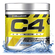 Cellucor Original Pre Workout Powder Energy Drink w/Creatine, Nitric Oxide & Beta Alanine, ICY Blue Razz, 30 Servings Good Pre Workout, Hard Workout, Workout Body, Workout Shoes, Gain Muscle Women, Workout Drinks, Supplements For Women, Protein Supplements, Workout Plan For Women