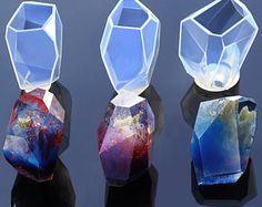 Silikon Form Cabochon - Kristall Form Transparent Silikonform - Anhänger Harz Silikon Form - für Schmuck machen - Epoxid-Harz-Form