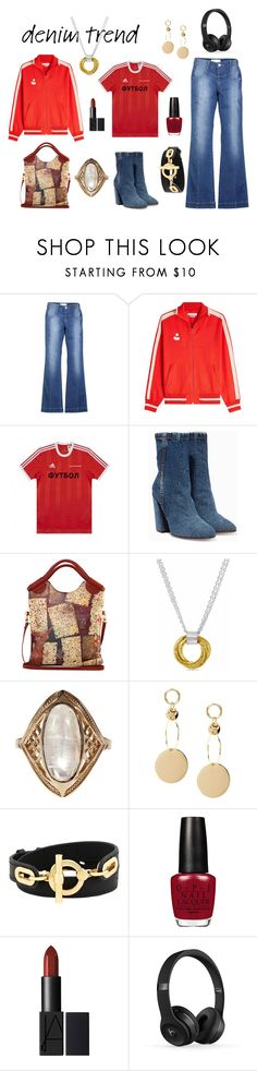 """FLARES"" by moestesoh ❤ liked on Polyvore featuring Étoile Isabel Marant, adidas, Dries Van Noten, Maya Magal, Henri Bendel, denimtrend and widelegjeans"