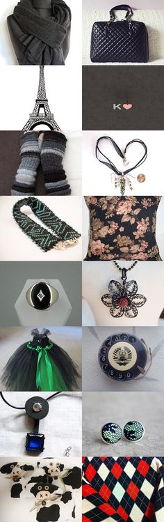 Black and... by Agnieszka on Etsy--Pinned with TreasuryPin.com