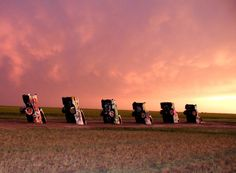 Cadillac Ranch in Amarillo, Texas along Route 66 Texas Texans, Route 66 Road Trip, Amarillo Tx, Texas History, Roadside Attractions, Land Art, Oh The Places You'll Go, Cadillac, Ranch