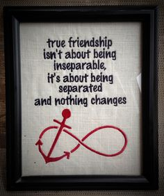 Framed friendship quote