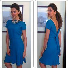 Deepika Padukone in Gucci blue dress