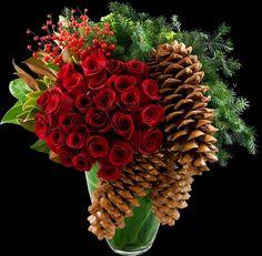 Festive Holday arrangement   Winston Flowers
