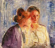 edvard munch(1863-1944), olga and rosa meissner, 1907. oil on canvas, 70 x 80 cm. munch-museet, oslo, norway http://www.the-athenaeum.org/art/detail.php?ID=90148
