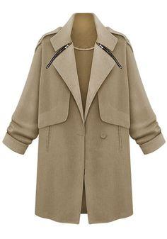Women-Blazer-Collar-Cardigan-Long-Trench-Coat-Jacket-Top-Outwear-Windbreaker-Hot