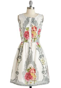 You Winsome, You Bloom Some Dress. Having earned your title as the princess of patterns, you celebrate your claim while clad in this cotton frock! #multi #modcloth
