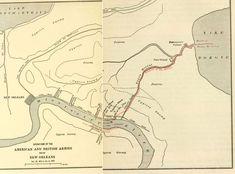 Battle of New Orleans British landing map