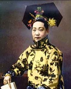 Empress Dowager Cixi of the Qing Dynasty Culture Art, Chinese Culture, Vintage Photographs, Vintage Photos, Taiping Rebellion, Empress Dowager Cixi, Colorized History, China People, Chinese Emperor