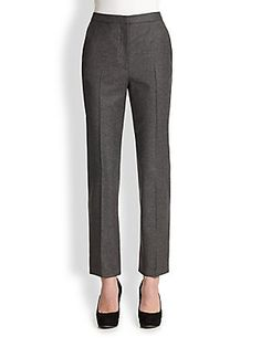 Alexander McQueen Vented Flannel Trousers