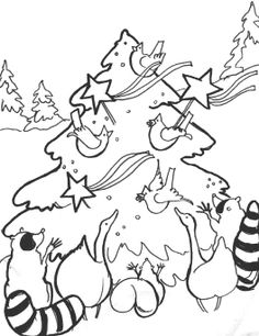 russian christmas tree coloring page