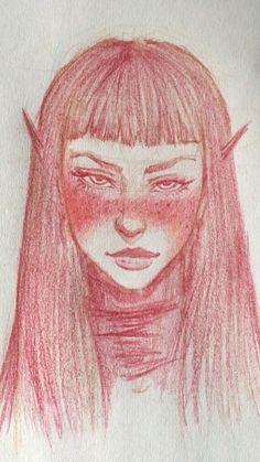 Pencil Art Drawings, Cool Art Drawings, Realistic Drawings, Art Drawings Sketches, Elf Drawings, Skin Drawing, Manga Drawing, Figure Drawing, Drawing Reference