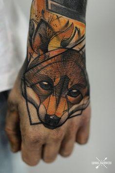 Lukas Zglenicki fox tattoo