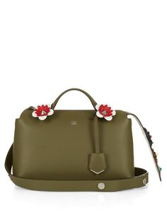 Fendi By The Way flower-embellished tail cross-body bag