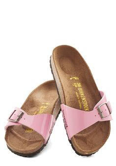 I'm not much of a Birkenstock wearer but these are awfully cute! And I love the sweet, pink color!!!