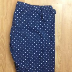 Polka dot leggings Polka dot cotton/Lycra leggings. Super cute for yoga, dance or going out with friends! Navy blue with white polka dots Mossimo Supply Co Pants Leggings