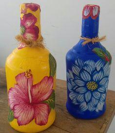 Decoupage em garrafas