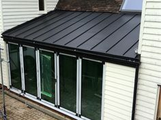 Anthra zinc roof with matching guttering, Nr Epping