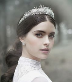 VIKTORIA NOVAK: 'The Evocative Prequel' Bridal Couture Headpiece 2016 Collection You can find different rumors about the history of the … Bridal Crown, Bridal Tiara, Bridal Headpieces, Wedding Veils, Wedding Dresses, Wedding Tiaras, Hair Wedding, Wedding Crowns, Headpiece Wedding