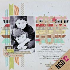 washi -tape scrap page