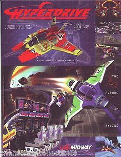 HYPERDRIVE-By-MIDWAY-1998-ORIGINAL-NOS-VIDEO-ARCADE-GAME-PROMOTIONAL-SALES-FLYER #hyperdrive #midwayhyperdrive #videogameflyer #arcadeflyers