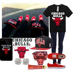 Chicago Bulls, created by fashionsetstyler on Polyvore