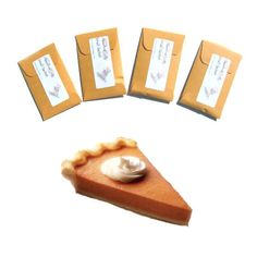 4 Pumpkin Spice Scented Sachets - Harvest Wedding - Thanksgiving Favors - Autumn Pie Decor Scent - DIY Party Favors #pumpkin spice