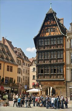 Strasbourg, France…not a very pretty view, but there are some beautiful garden on the other side of the square :)
