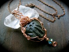 Awen Carved Necklace by EireCrescent on Etsy, $24.99