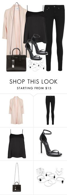 """Style #10325"" by vany-alvarado ❤ liked on Polyvore featuring Topshop, Yves Saint Laurent and River Island"