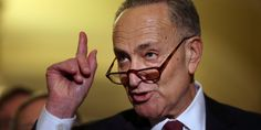 Moron= Chuck Schumer. Call the donkey and remind him RIGHT won! DEMONcrats are vile domestic terrorists