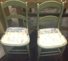 Repurposed Chairs (Comes as a table and chair set - $150)