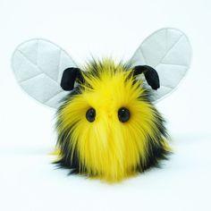 Stuffed Animal Cute Plush Toy Bumble Bee Kawaii by Fuzziggles