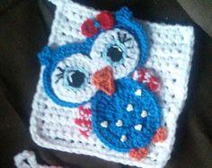 Crochet Patriotic Owl Pothoder Pattern Only by 3ThreadinBettys