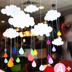 meter Hot Air Balloon Garland / Baby Shower Decor / Birthday Party Decor / DIY Hot Air Balloon Nursery Mobile Beautiful Cloud Hanging Decoration Birthday Party and Baby Room's Decoration even supplies and Gifts for Children's day School Decorations, Birthday Party Decorations, Baby Shower Decorations, Handmade Decorations, Decoration Creche, Cloud Decoration, Diy Hot Air Balloons, Gifts For Kids, Diy For Kids