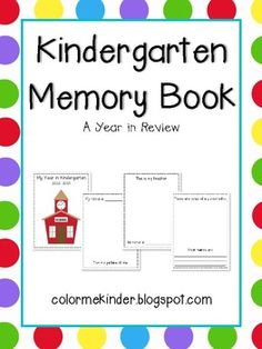 Kindergarten graduation program template graduation end of year end of year kindergarten memory book maxwellsz