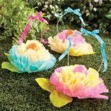 Easter Basket Ideas; coffee filter flowers