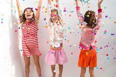 Rood/wit gestreepte jurk (links), girls, maat 86/92 - 134/140, Bengh per Principesse SS15 #monkeyandbutterfly