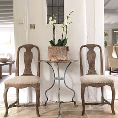 Pair of Swedish Rococo Chairs in Antique Linen - this one is sold but contact us for more, plus French antique furniture, art deco interior decoration, painted chests, mirrors and Rococo Chair, Rococo Furniture, Antique French Furniture, Antique Interior, Swedish Style, Swedish Design, Swedish Interiors, Bleached Wood, Painted Chest