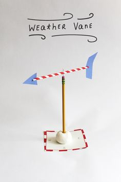This easy homemade weather vane is a great hands-on weather lesson for kids!