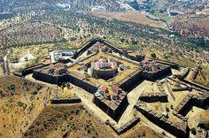 Elvas Municipality, Fortress of Santa Luzia - Alentejo, Portugal Beautiful Castles, Beautiful Places, Star Fort, Places To Travel, Places To Visit, Travel Destinations, Fortification, Spain And Portugal, Travel Photography